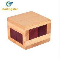 Leadingstar مصغرة لغز خشبي فتح مربع لعبة متاهة الدماغ دعابة هدية الفكرية للأطفال / الكبار