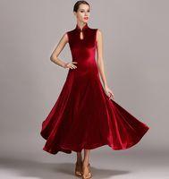 4 renkler Menekşe kadife kadın balo salonu elbise balo salonu dans elbise modern dans kostümleri balo valsi elbise tango flamenko rumba dancewear