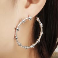 Brinco de argola estrela Geometria romântica pendurado simples pentagrama brincos Brincos Femme jóias grande brinco de argola