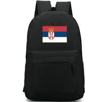 Сербия флаг рюкзак Прохладный деревенский день пакет Синий красный белый баннер школьная сумка Повседневный рюкзак Хороший рюкзак Спортивная школьная сумка Открытый рюкзак