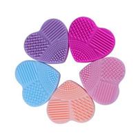 Silicone Makeup Brushegg Cleaning Washing Tools Lovely Brushegg per la pulizia di pennelli da trucco Strumenti di pulizia in silicone caldo b689