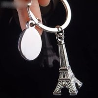 3D Estilo Criativo Retro Mini Torre Eiffel Chaveiro Chaveiro Keyfob Amante Presentes Chaveiro