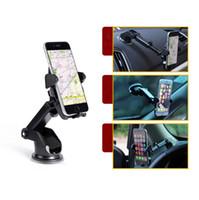유니버설 모바일 자동차 전화 홀더 360도 조정 가능한 창 유리 핸드폰 GPS 홀더에 대 한 윈드 실드 대시 보드 홀더 스탠드