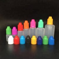 Garrafas plásticas vazias do conta-gotas da garrafa quente do óleo do PE da venda 3ml 5ml 10ml 15ml 20ml 30ml PE com o tampão à prova de crianças