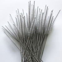 Nettoyage de tuyaux de nettoyage en nylon Nettoyage de paille Brosse de nettoyage pour tuyaux en acier inoxydable tuyau potable propre 17,5 cm x 4 cm x 6 mm