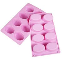 New Home 8- Cavity Oval Shape Soap Mold Silicone Chocolate Mo...