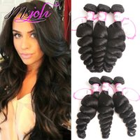 Malaysian virgin human hair Unprocessed Loose wave natural c...