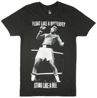 Detalles zu Muhammad Ali Sting Like a Bee Boxeador Legend Fighter Retro Tee Top Mens Negro Divertido envío gratis Unisex Casual regalo
