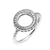 Kompatibel mit pandora schmuck ring silber herzen von halo ringe weiß kristall 100% 925 sterling silber schmuck großhandel diy für frauen