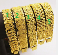 5 estilo de escolha Wide Edition 18 k banhado a ouro europeu de cobre banhado a ouro vietnamita pulseiras para mulheres dos homens link pulseiras