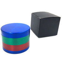 Colorful 4 Parti Herb Grinder Metallo Tabacco Fumo Herb Grinders Accessori per Fumi Regali 2 Stili 52 * 38mm HH7-1405
