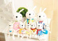 Niedliche Cartoon Kaninchen Plüsch Spielzeug Kinder Kinder Gefüllte Spielzeug Ester Tag Kreative Nachdenkliches Geschenk Hochzeit Ornament Geschenke XR 001