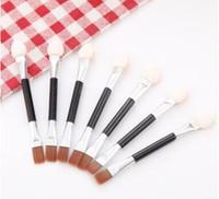 Cosmetic Brushes Women Makeup Ombretto Eyeliner Spugna Set di pennelli per labbra Applicatore Beauty Double-Ended Usa e getta