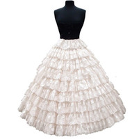 Luxurious 9 Layers Lace Ball Gown Petticoats 6 Hoops Quincea...