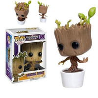 Funko Pop Dancing Tree Groot Action Figure Model Toy Marvel Bobblehead Guardiani della Galassia PVC Toy Figure per bambini Regalo di Natale
