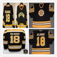Men's Boston Bruins Hockey Jerseys 18 Happy Gilmore Black Yellow Yellow Under Alternato Ricamo Retro Jersey vintage, MIX ORDINE Dimensione S-3XL