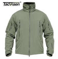 TACVASEN Men Military Jacket Coat Waterproof Tactical Jacket Winter Soft Shell Hunt Giacche Army rimovibile con cappuccio