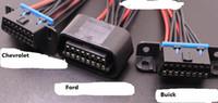 16 핀 16 핀 자동 OBD 2 운전 컴퓨터 커넥터 어댑터 케이블 코더 차량 인터페이스 DIY 여성 전원 케이블 시보레 포드 뷰익