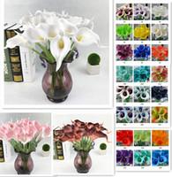 33 cores pu lírio de calla artificial buquê de flores real toque decorações do casamento do partido flores falsificadas home decor 38 cm * 6 cm