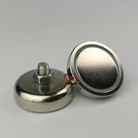 10PC 43кг неодимовый магнит База D32mm с внешней резьбой М6 * 9мм Cup стали Magnetic Base Precision машина POS дисплей арматуре