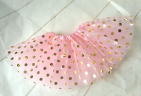 Baby Girls Gold Polka Dots Faldas de Ballet Infantil Fancy Party Falda de Tul Tutu Baby Bitheday Tutus Photographe Falda 0-8T
