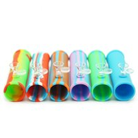 Free shipping roller pipe Mini Silicone Water Bongs 14 mm Jo...