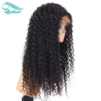 Bythair Full Lace Human Hair Wig Kinky Curly Lace Front Wig ...