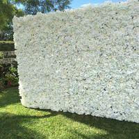 60x40cm Romantyczna Sztuczna Róża Hortensja Kwiat Ściana na Wesele Stage i Tło dekoracji Wiele kolorów