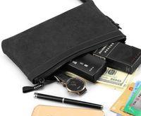 الرجال مخلب النساء جلد طبيعي سفر أدوات الزينة الحقيبة 26 و 19 سم حقائب مستحضرات التجميل للرجال بطاقة الهوية الهاتف المحمول