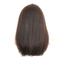 Dentelle frontale carrefour perruque cheveux humains couleur naturelle Remy Perruque Vrigin Human Hair Silk tressé perruques sans gluellement
