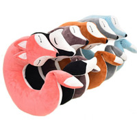 HazyBeauty Lovely Fox Animal Cotton Plush U Shape Neck Pillo...