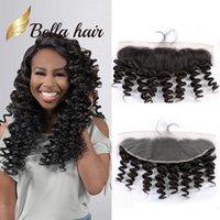 벨라 Hair® 13x4 귀 귀 느슨한 웨이브 말레이시아 레이스 정면 폐쇄 헤어 조각 8A 자연 색 인간의 머리 확장 무료 배송
