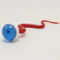 5 인치 뱀 눈 유리 Dabber 도구 Carb Cap Quartz Banger Glass Bong 용 빨간색 화이트 왁스 DAB 도구