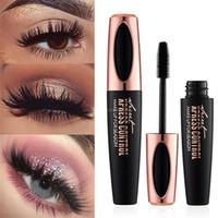 MACFEE 4D fibre de soie EyeLash Maquillage Imperméable Silicone Pinceau Tête Mascara Allongement Épais Mascara de haute qualité