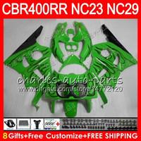 Kit llamas verdes para HONDA CBR400 RR NC23 CBR400RR 88 89 90 91 92 93 80HM17 CBR 400 RR NC29 CBR 400RR 1988 1989 1990 1991 1992 1993 Carenado