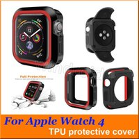 Per Iwatch 4 Custodia 40mm 44mm Rugged Protective Shockproof Resistant TPU Cover Bumper Apple Watch Series 4 Accessori per orologi colorato da DHL