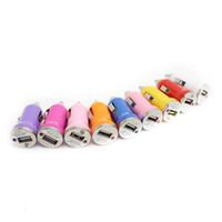 شاحن سيارة ميني USB مزدوج لاجهزة ايفون سامسونج هواوي هاتف 5V 1A USB شاحن سيارة سريع لجميع الهواتف الذكية