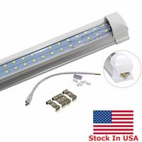 Lager in den USA + 4ft 5ft 6ft 8ft LED-Röhrchen Licht 72W Integriert T8 LED-Lichtröhre 8 Fuß doppelseiten 384LEDS 6800 Lumen AC 110-240V