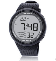 Xonix Men Спортивные часы Цифровые Водонепроницаемые 100 М Плавательные Часы Светодиодный Светлый Хронограф Многофункциональный Дайвер Открытый наручные часы