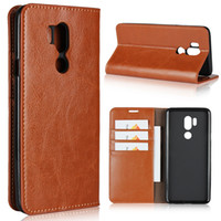 Genuine Leather Cover Flip Case For LG G7 ThinQ Coque Wallet...