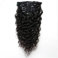 Clip In Human Hair Extensions Natural Wave Brazilian Remy Na...