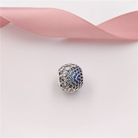 Authentic 925 Sterling Silver Beads Blue Enchanted Pavé Char...