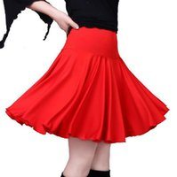 Kare Dans Giyim Dans Elbise Kare Büyük Boy Etek Latin Elbise Giyim Şeker-Renk Etek