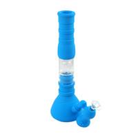 base de cubilete tubos de agua 3 filtro de cristal filtro bongs de silicona plataforma de aceite para fumar DHL envío gratis