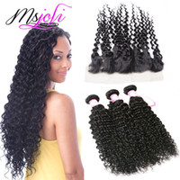 Brazilian Human Hair Wefts with Closure 13x4 Frontal Ear To ...