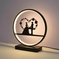 Lampe de table de mariage protéger oeil bureau lumière chambre personnalité créative art beau dessin animé princesse lampe de chevet