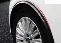 1.5M 탄소 섬유 자동차 휠 펜더 트림 가드 스트립 자동차 스타일링 액세서리 외부 자동차 부품