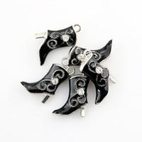 50 Шт. / Лот Смешанный стиль Эмаль Ковбойские сапоги Ожерелье Шарм Новая Мода Ковбой Женщины Ювелирные Подарки