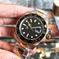Mens High Quality Luxury GMT Noob Factory V2 Dark black surf...
