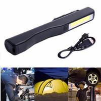 Lampe de poche LED COB Rechargeable Magnetic Pen Clip Torche À Main USB Charge Lampe de Travail Pour Camping Trekking Veilleuse Tactique